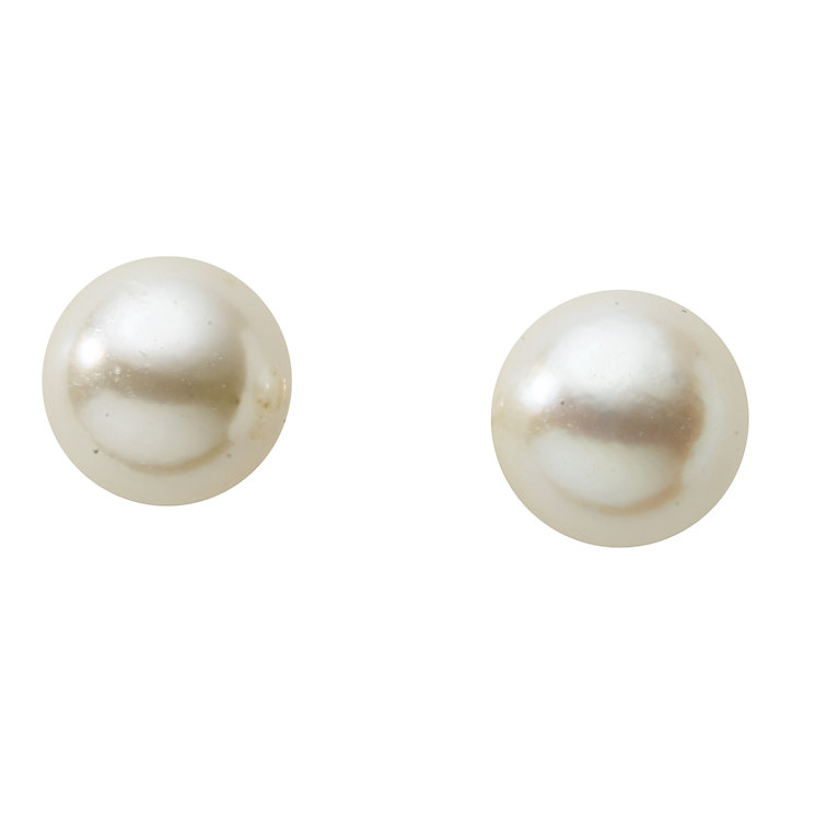 9ct gold 6mm cultured pearl stud earrings - Product number 2248581