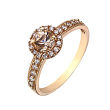 9ct rose gold and simulated morganite round vintage ring - Product number 2248905