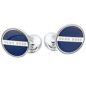 Hugo Boss navy round cufflinks - Product number 2251027