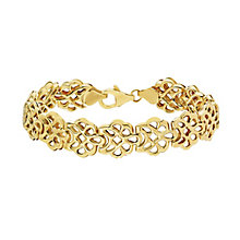 Together Silver & 9ct Gold Bonded Flower Design Bracelet - Product number 2251094