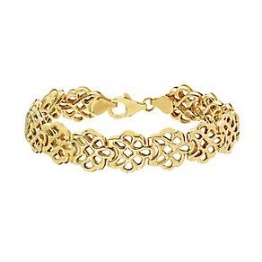 Together Silver & 9ct Gold Bonded Flower Design Bracelet - Product number 2251094