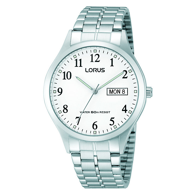 Lorus Men's White Dial & Stainless Steel Bracelet Watch - Product number 2251566
