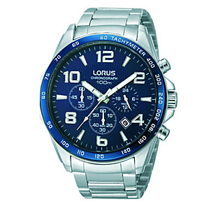 Lorus Men's Navy and Stainless Steel Chronograph Watch - Product number 2251973