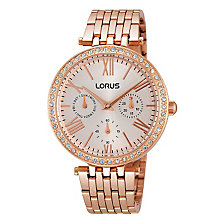 Lorus Ladies' Rose Gold Plate Crystal Bracelet Watch - Product number 2252007