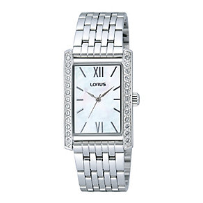 Lorus Ladies' Stainless Steel Mother of Pearl Crystal Watch - Product number 2252058