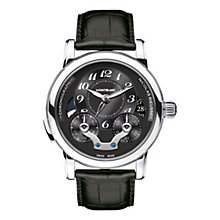 Montblanc Nicolas Rieussic men's black leather strap watch - Product number 2252066