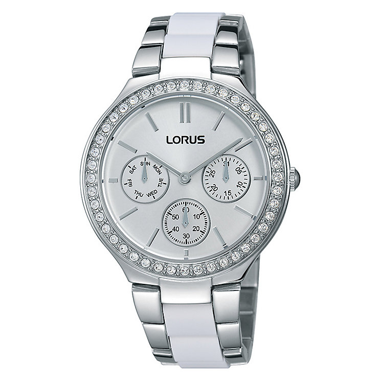 Lorus Ladies' Crystal Set Stainless Steel Bracelet Watch - Product number 2252236