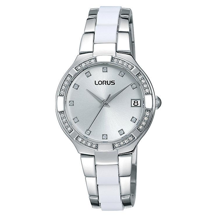 Lorus Ladies' Crystal Set Stainless Steel Bracelet Watch - Product number 2252252