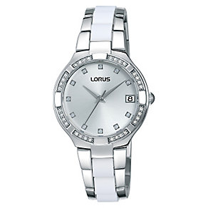 Lorus Ladies' Crystal Set Stainless Steel Bracelet Watch - Product number 2252252