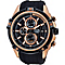 Pulsar Men's Rose Gold Tone Black Chronograph Watch - Product number 2252376