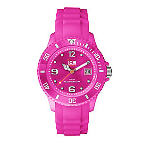 Ice Watch Ladies' Neon Pink Silicone Strap Watch - Product number 2252562