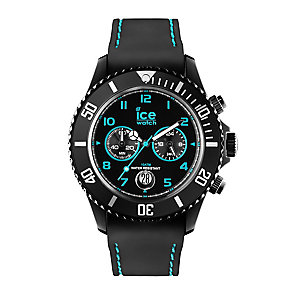 Ice Watch Ladies' Black & Turquoise Silicone Strap Watch - Product number 2252627