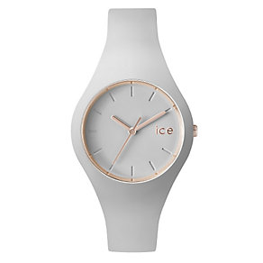 Ice Watch Ladies' Rose Gold Tone Beige Silicone Strap Watch - Product number 2252643