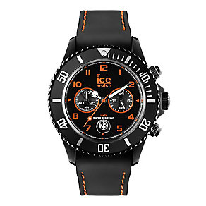 Ice Watch Ladies' Black & Orange Silicone Strap Watch - Product number 2252716