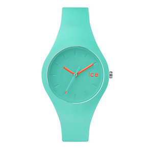 Ice Watch Ladies' Turquoise & Orange Silicone Strap Watch - Product number 2253011