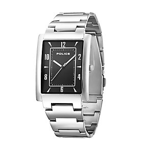Police Men's Rectangular Dial Stainless Steel Bracelet Watch - Product number 2253089