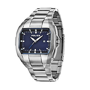Police Men's Tonneau Dial Stainless Steel Bracelet Watch - Product number 2253097