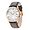 Police Men's Rose Gold Plated Brown Leather Strap Watch - Product number 2253143