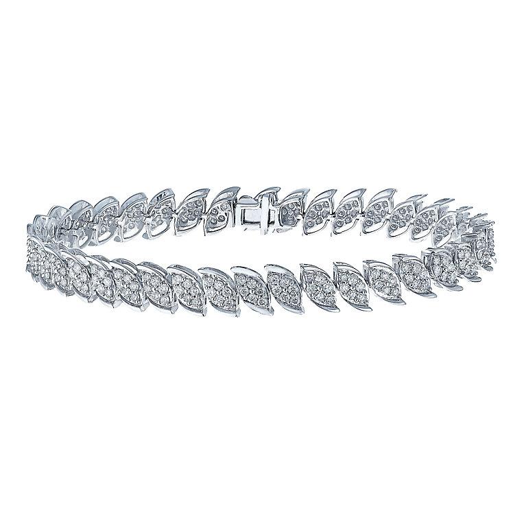 9ct white gold 3 carat diamond bracelet with secret diamond - Product number 2253224