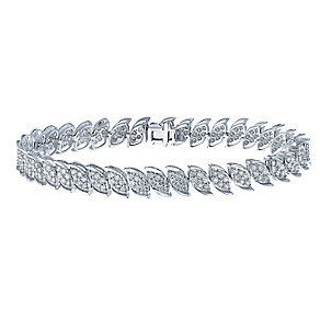 9ct white gold 3 carat diamond bracelet with secret diamond - Product number 2253224