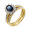18ct two colour gold 1/3 carat diamond & sapphire bridal set - Product number 2255464