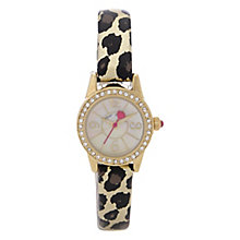 Betsey Johnson Ladies' Stone Set Leopard Print Watch - Product number 2255634