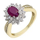 18ct gold & white gold 55 point diamond & ruby ring - Product number 2256142