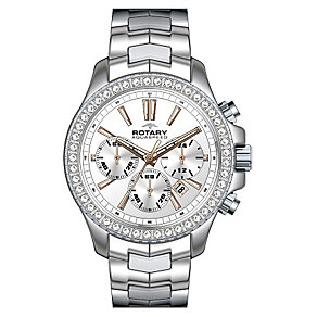 Rotary Ladies' Aquaspeed Stone Set Stainless Steel Watch - Product number 2257106