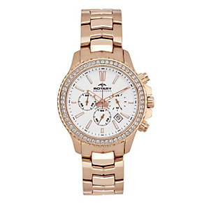 Rotary Ladies' Rose Gold-Plated Chronograph Bracelet Watch - Product number 2257289