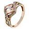 9ct rose gold diamond & morganite wave ring - Product number 2257734