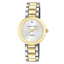 Anne Klein Ladies' Diamond Set Two Colour Bracelet Watch - Product number 2258463