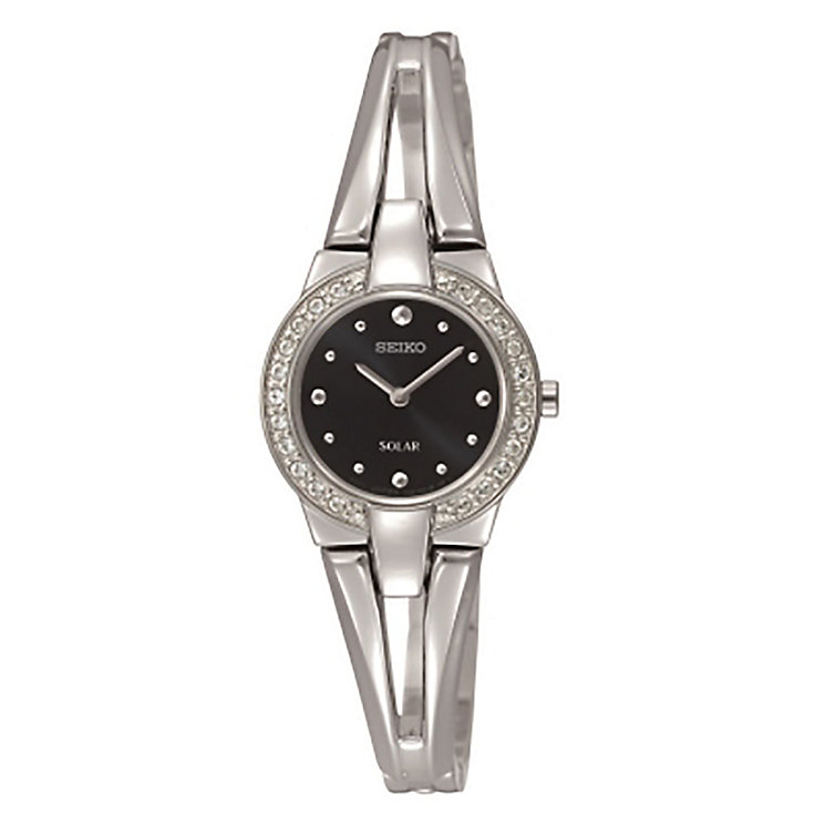 Seiko Ladies' Stainless Steel Crystal Watch - Product number 2258528