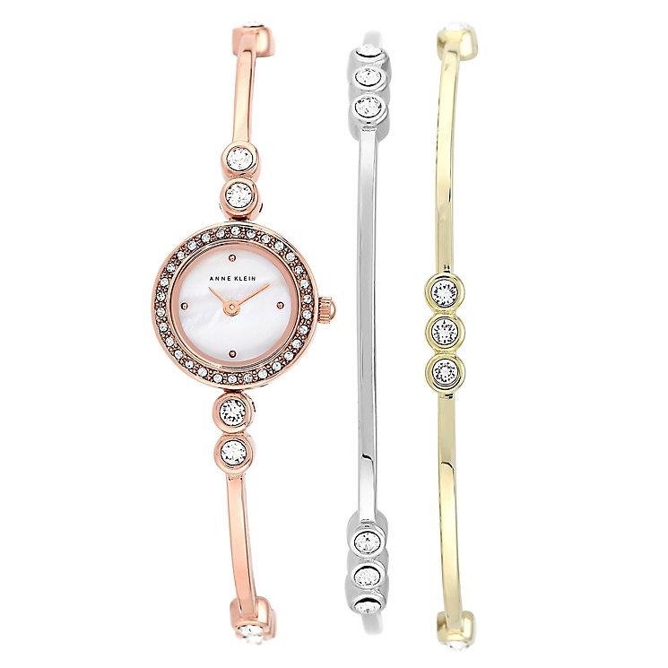 Anne Klein Ladies' Swarovski Element Multi Bracelet Watch - Product number 2258587
