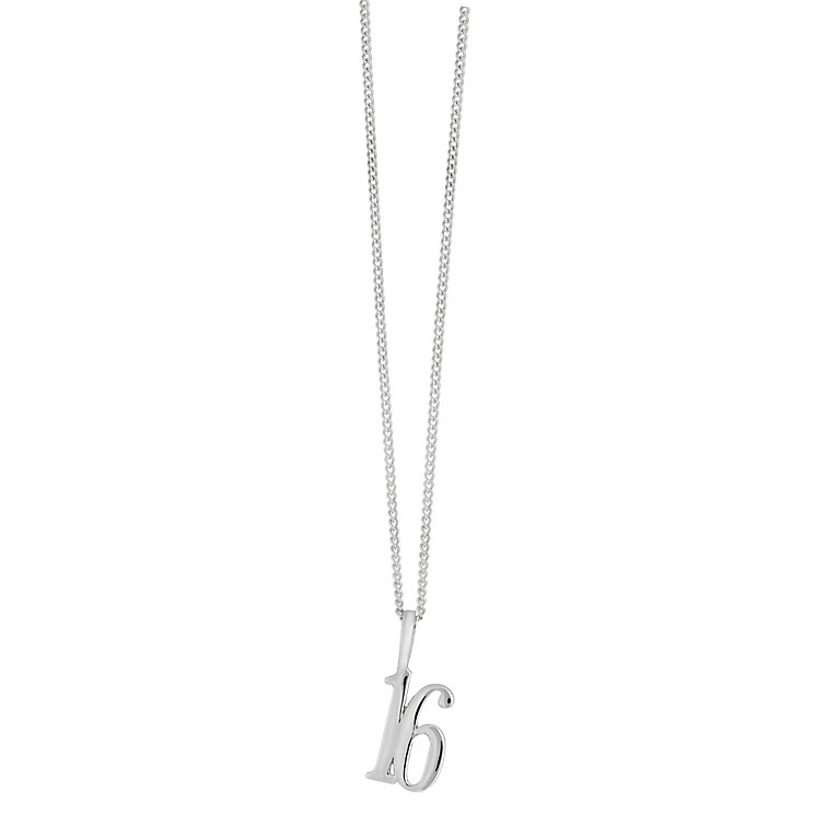 Sterling silver 16th pendant - Product number 2259435