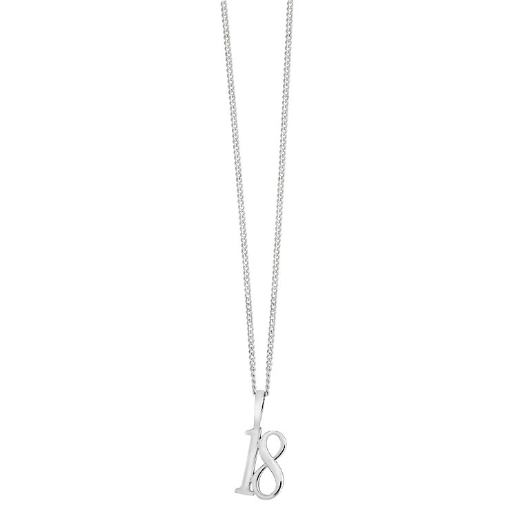 Sterling silver 18th pendant - Product number 2259443