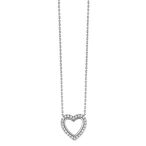 Sterling silver cubic zirconia heart pendant - Product number 2259486