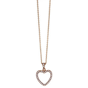Rose gold-plated cubic zirconia heart pendant - Product number 2259494