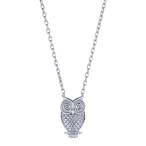 Sterling silver owl pendant - Product number 2259559