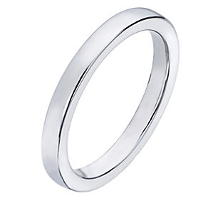 Sterling silver plain band ring - Product number 2260190