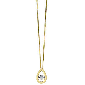 Diamonds in Rhythm 9ct yellow gold 20 point diamond pendant - Product number 2260891
