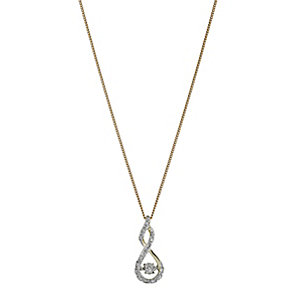 Diamonds in Rhythm 9ct yellow gold diamond figure 8 pendant - Product number 2260905