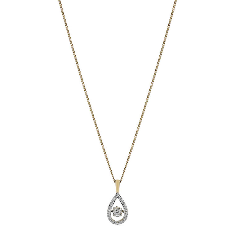 Diamonds in Rhythm 9ct yellow gold 10 point diamond pendant - Product number 2260913
