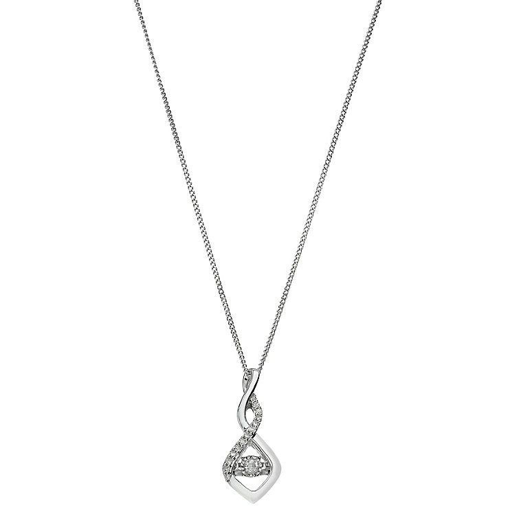 Diamonds in Rhythm 9ct white gold diamond pendant - Product number 2260921