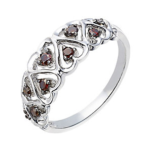 Sterling silver 20 point natural brown diamond ring - Product number 2262053