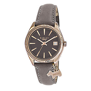 Radley Ladies' Rose Gold Plated Leather Strap Watch - Product number 2262207