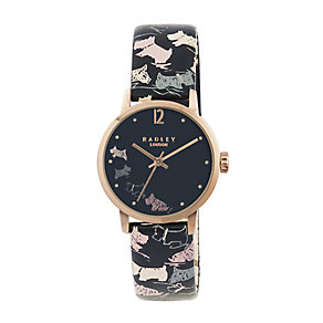 Radley Ladies' Rose Gold Plated Doodle Print Watch - Product number 2262576