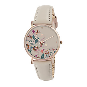 Radley Ladies' Rose Gold Plated Poppy Print Watch - Product number 2262711