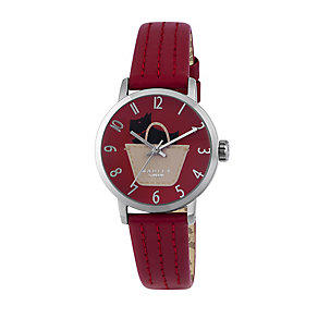 Radley Ladies' Stainless Steel & Red Leather Strap Watch - Product number 2262908
