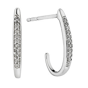 9ct white gold diamond cluster earrings - Product number 2263351
