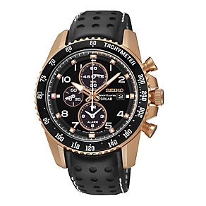 Seiko Men's Rose Gold Plated Sportura Chronograph Watch - Product number 2263440
